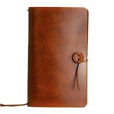 Stamford Notebook Company Medium Travellers Journal The Classic Range Mid Brown