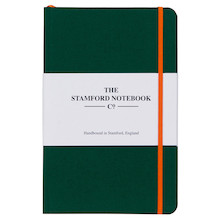 Stamford Notebook Company The Limited Edition Woven Cloth Notebook Quarto Medium Racing Green