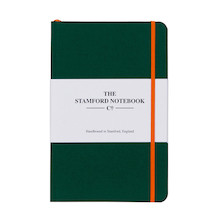 Stamford Notebook Company The Limited Edition Woven Cloth Notebook Octavo Pocket Racing Green