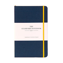 Stamford Notebook Company The Limited Edition Woven Cloth Notebook Octavo Pocket Navy