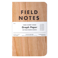 Field Notes Cherry Graph Pocket Notebook Set of 3