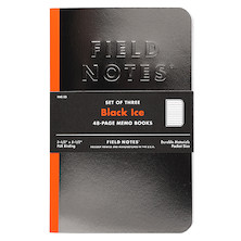 Field Notes Black Ice Pocket Notebook Limited Edition Set of 3