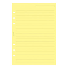 Filofax Notepaper Ruled Yellow