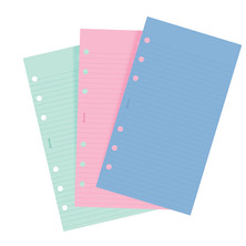 Filofax Fashion Ruled Notepaper Coloured