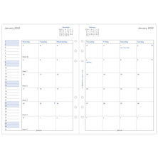 Filofax Diary Refill 2022 Month on 2 Pages
