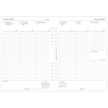 Filofax Diary Refill 2022 Week on 2 Pages A5