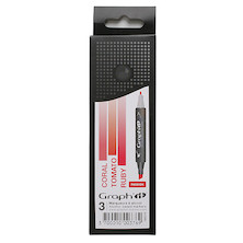 Graph'it Twin Tip Marker Pen Set of 3
