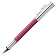Graf von Faber-Castell Guilloche Colours Fountain Pen Electric Pink