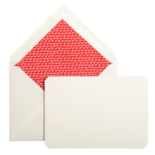 Jacques Herbin Card and Envelope Set C6 Red