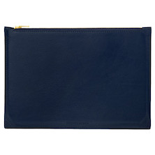 Jacques Herbin Leather Case Large Blue