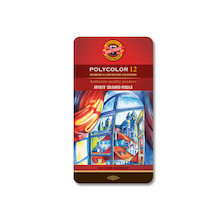 Koh-I-Noor Polycolor Art Pencil 3800 Tin of 12