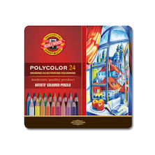 Koh-I-Noor Polycolor Art Pencil 3800 Tin of 24