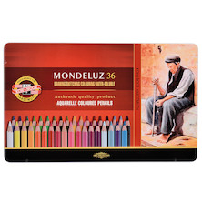 Koh-I-Noor Mondeluz Watercolour Pencils Tin of 36