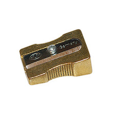 KUM Brass Wedge Single Hole Sharpener 300-1