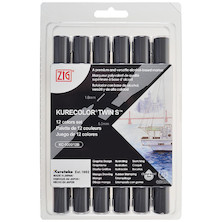 Kuretake Zig Kurecolor Twin S Marker Pen KC-3000 Set of 12