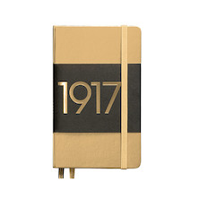 Leuchtturm1917 Hardcover Notebook Pocket 1917 Metallic Edition Gold
