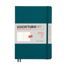 Leuchtturm1917 Weekly Planner 2022 Softcover Medium A5 Pacific Green