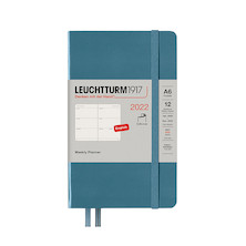Leuchtturm1917 Weekly Planner 2022 Softcover Pocket A6 Stone Blue