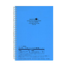 Lihit Lab Aqua Drops 30 Sheet Twist Ring Notebook A5