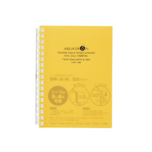 Lihit Lab Aqua Drops 30 Sheet Twist Ring Notebook A6