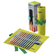 LAMY plus Coloured Pencils Fabric Case with 12 Pencils and Sharpener