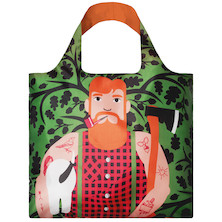 LOQI Shopping Bag Lumber Jack