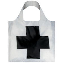 LOQI Shopping Bag Black Cross - Malevich