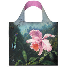 LOQI Shopping Bag Still Life with Orchids & Pair of Hummingbirds