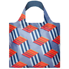 LOQI Shopping Bag Geometric Cubes