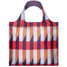 LOQI Shopping Bag Geometric Stripes