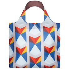 LOQI Shopping Bag Geometric Triangular