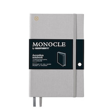 Monocle by Leuchtturm1917 Wallet/Accordion Notebook B6+ Light Grey