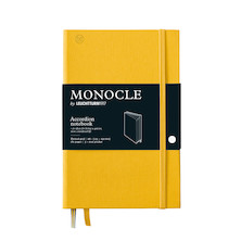 Monocle by Leuchtturm1917 Wallet/Accordion Notebook B6+ Yellow