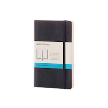 Moleskine Soft Cover Pocket Notebook 90x140 Black