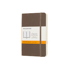 Moleskine Soft Cover Pocket Notebook 90x140 Earth Brown