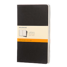 Moleskine Cahier Large Journal 135x210 Black