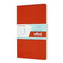 Moleskine Volant Journal Large Set of 2 Coral Orange/Aquamarine Blue