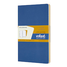 Moleskine Volant Journal Large Set of 2 Forget-Me-Not/Amber Yellow