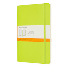 Moleskine Classic Collection Softcover Large Notebook Lemon Green
