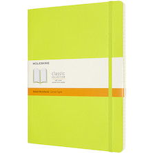 Moleskine Classic Collection Softcover Extra Large Notebook Lemon Green