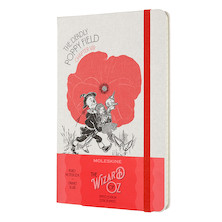 Moleskine Wizard of Oz Large Notebook Limited Edition Poppy Field Lined