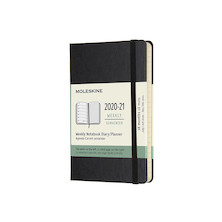 Moleskine Hardcover Pocket Weekly 18 Month Diary 2020-2021 Black