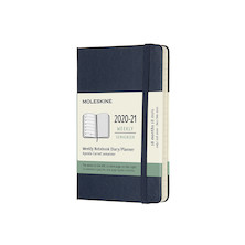 Moleskine Hardcover Pocket Weekly 18 Month Diary 2020-2021 Sapphire Blue