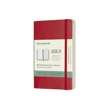 Moleskine Softcover Pocket Weekly 18 month Diary 2020-2021 Scarlet Red
