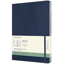 Moleskine Hardcover Extra Large Weekly 18 Month Diary 2021-2020 Sapphire Blue