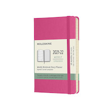 Moleskine Hardcover Pocket Weekly 18 Month Diary 2021-2022 Bougainvillea Pink