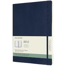 Moleskine Softcover Extra Large Weekly 18 Month Diary 2021-2020 Sapphire Blue