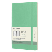Moleskine Softcover Large Weekly 18 Month Diary 2021-2022 Ice Green