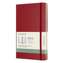 Moleskine Softcover Pocket Weekly 18 Month Diary 2021-2022 Scarlet Red