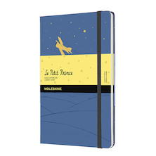 Moleskine Petit Prince Large Notebook Limited Edition Forget Blue Ruled